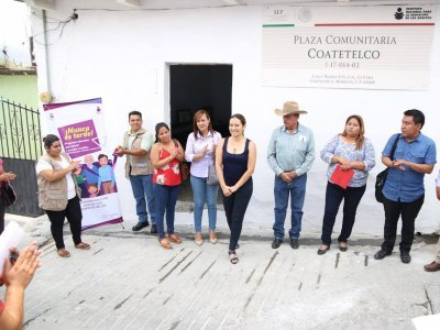 "<a href=""/noticias/reinauguracion-de-la-plaza-comunitaria-coatetelco"">REINAUGURACIÓN DE LA PLAZA COMUNITARIA COATETELCO </a>"