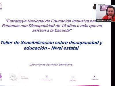 """<a href=""""/noticias/sensibilizacion-sobre-discapacidad-y-educacion-ineea"""">SENSIBILIZACIÓN SOBRE DISCAPACIDAD Y EDUCACIÓN INEEA </a>"""